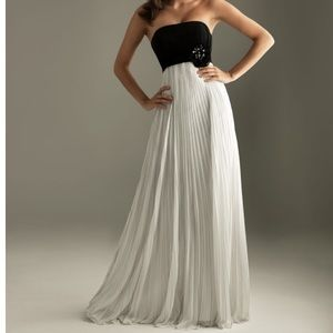 Night Moves Long Black and White Dress
